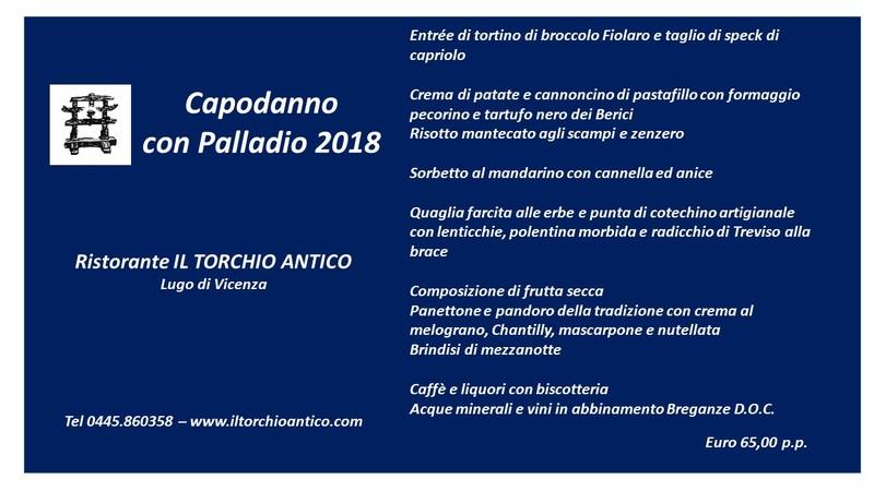 Capodanno con Palladio 2018 - Il Torchio Antico