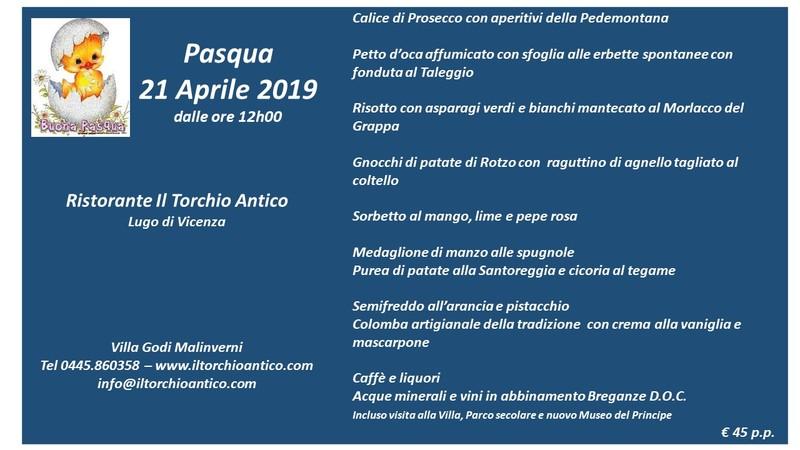 Pasqua 21 Aprile 2019